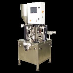 Automat jednořadový pro plnění do plastových kelímků