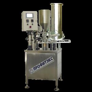 Automat pro plnění vícesložkého výrobků do plastových kelímků