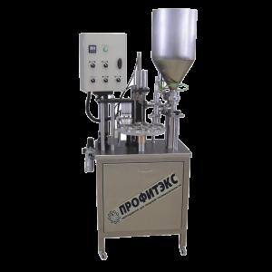 Poloautomatický stroj pro plnění do plastových kelímků