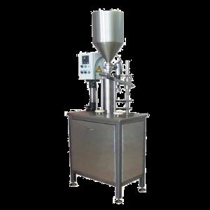Poloautomatický stroj pro plnění do láhvi