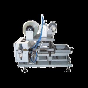 Poloautomatický stroj pro přivařování fólie na plastovu vaničku