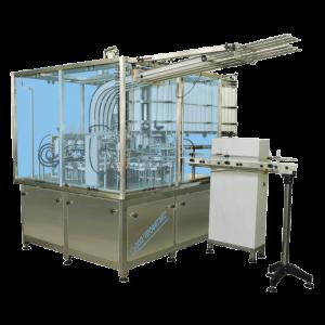 Automat čtyřřadý pro plnění do plastových kelímků