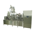 Four-lane linear cup filling and sealing machine