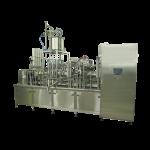 Automat čtyřřadý lineární pro plnění do plastových kelímků
