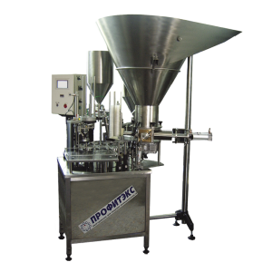 Filling machine for curd (farmer cheese)