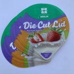 Plastic Die Cut Lids with printing detailed sample